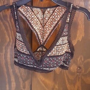 Boho look lace bra New with tags